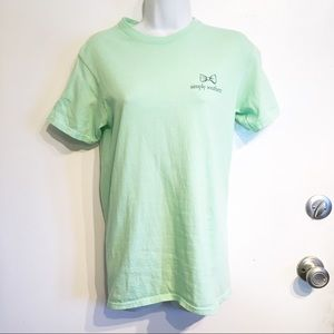 Simply Southern Green Preppy Graphic Tee